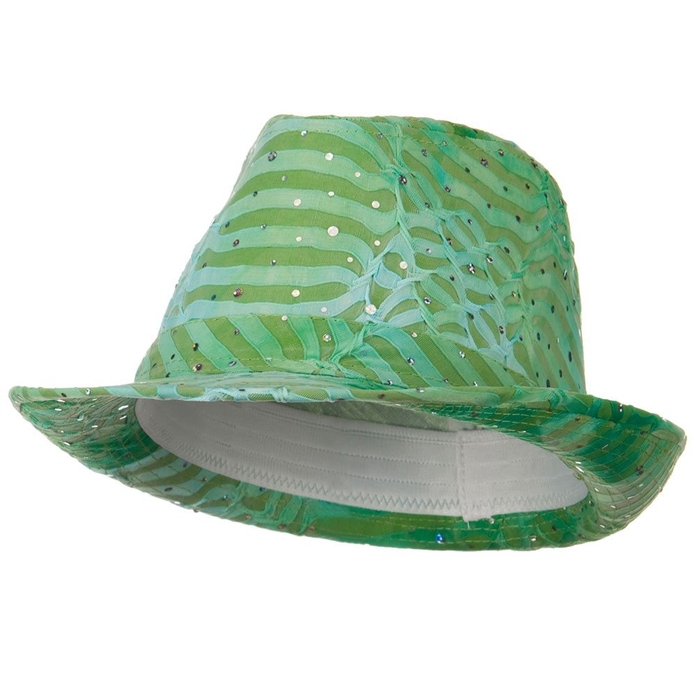 New Glitter Fedora Hat - Lime - Hats and Caps Online Shop - Hip Head Gear