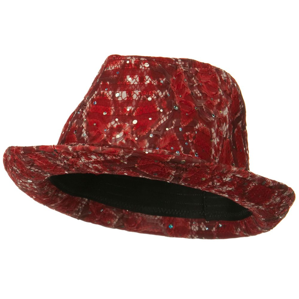 New Glitter Fedora Hat - Red - Hats and Caps Online Shop - Hip Head Gear