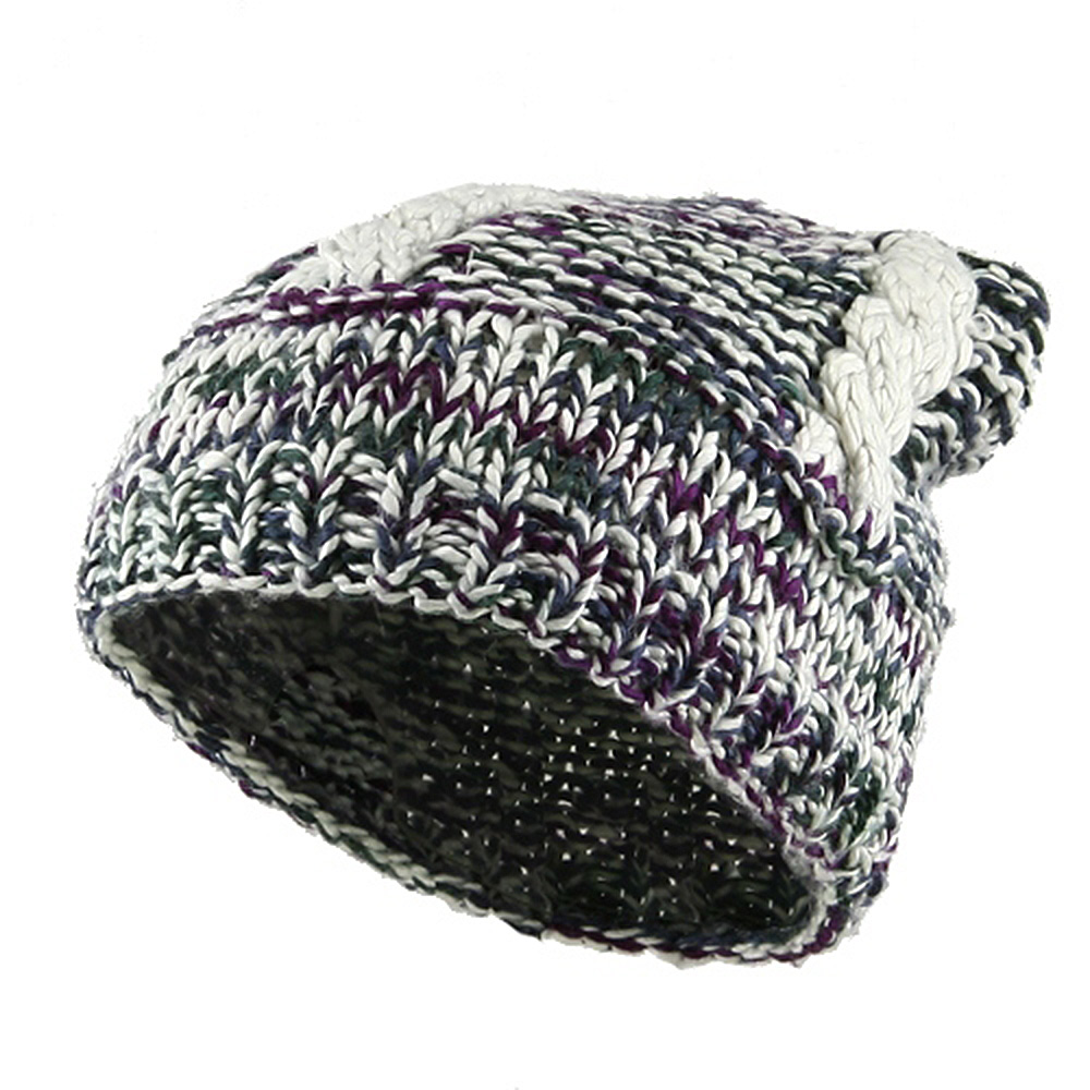 Sock Style Silk Beanie - Multi - Hats and Caps Online Shop - Hip Head Gear