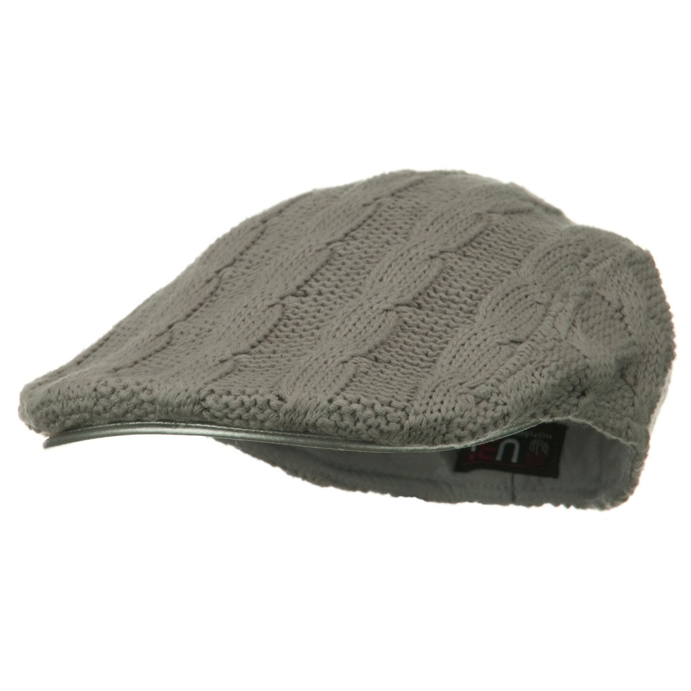 Knitted Cable Ivy Hat - Light Grey - Hats and Caps Online Shop - Hip Head Gear