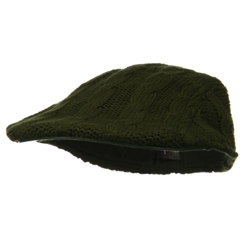 Knitted Cable Ivy Hat - Olive - Hats and Caps Online Shop - Hip Head Gear