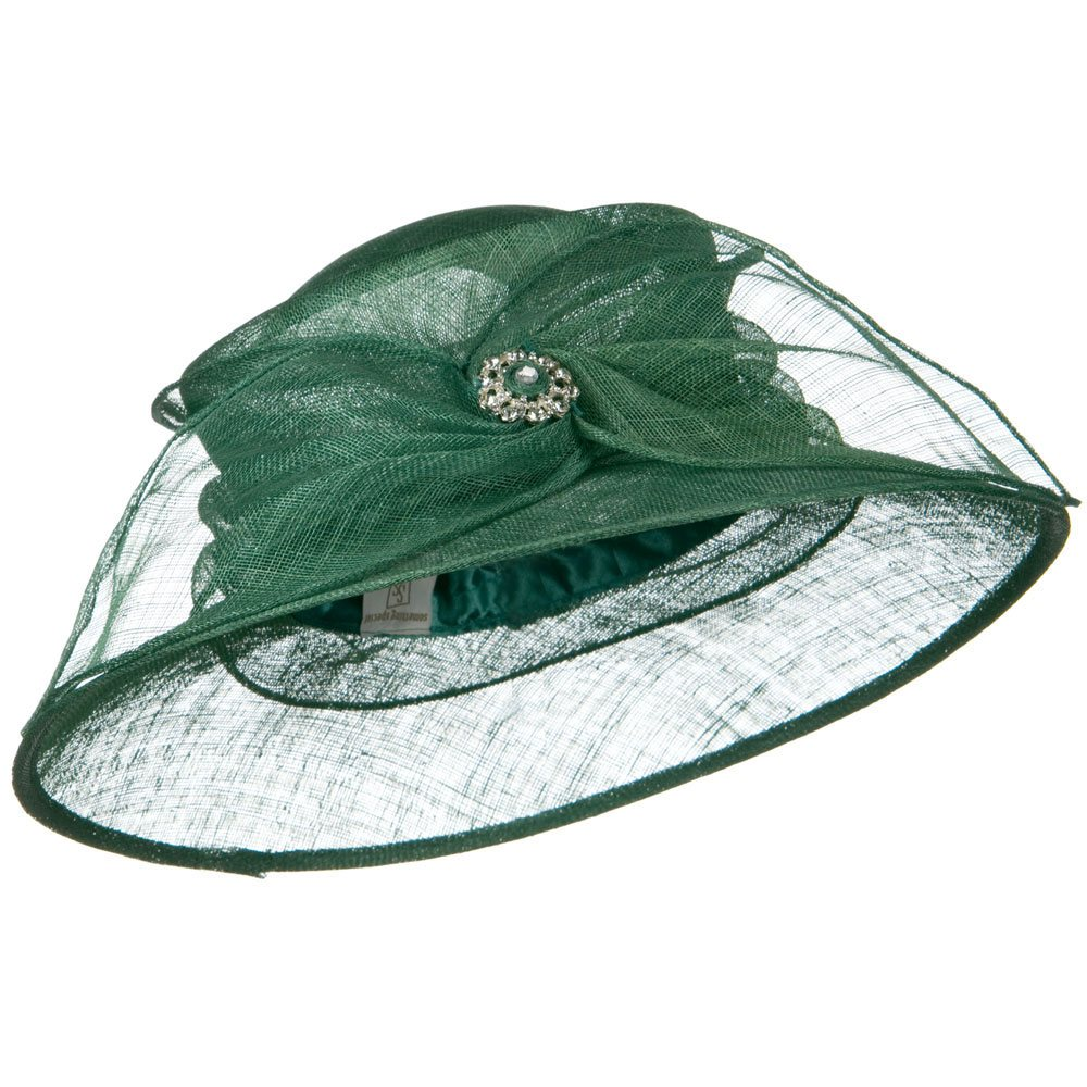 Wide Leaf Ribbon Sinamay Hat - Teal Green - Hats and Caps Online Shop - Hip Head Gear