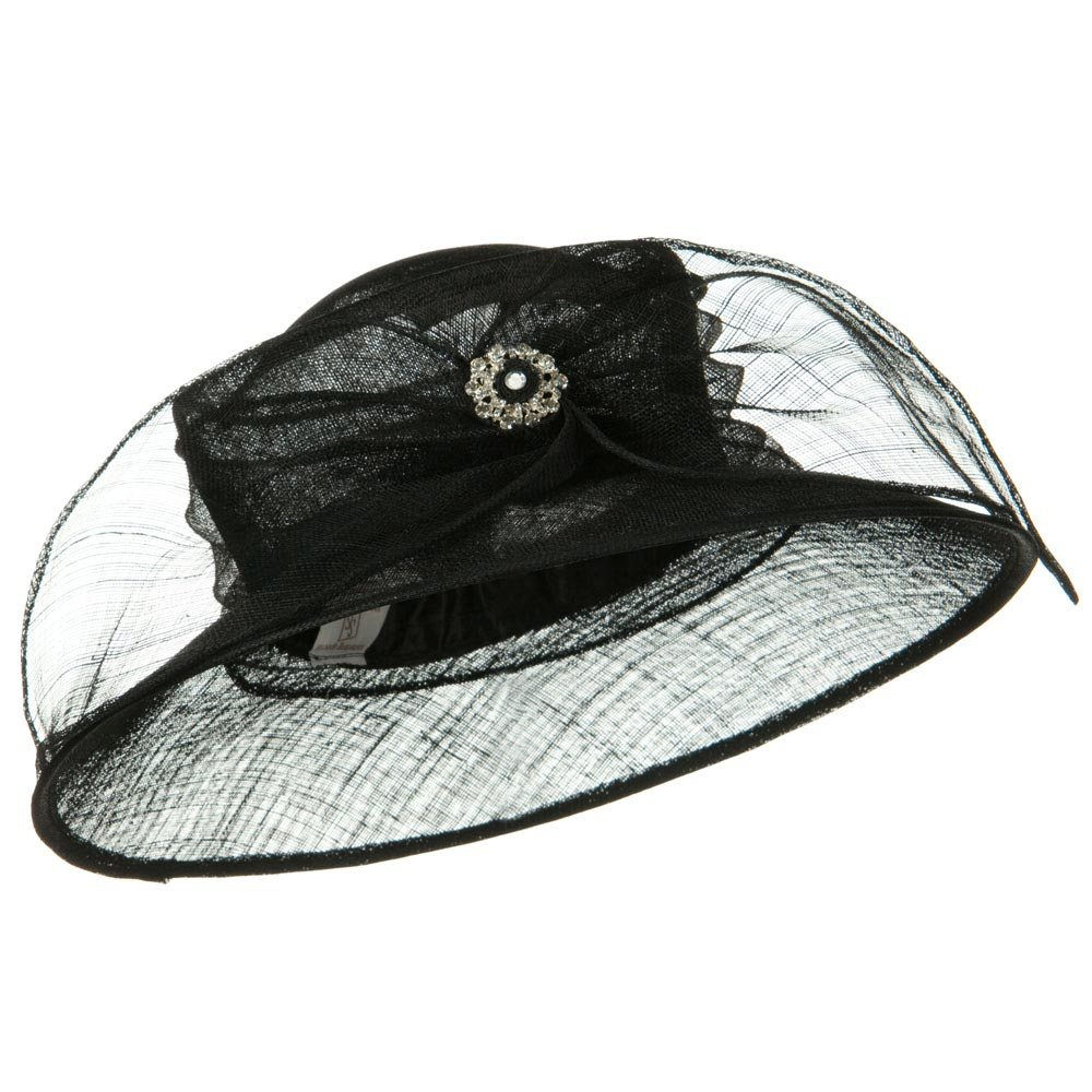 Wide Leaf Ribbon Sinamay Hat - Black - Hats and Caps Online Shop - Hip Head Gear
