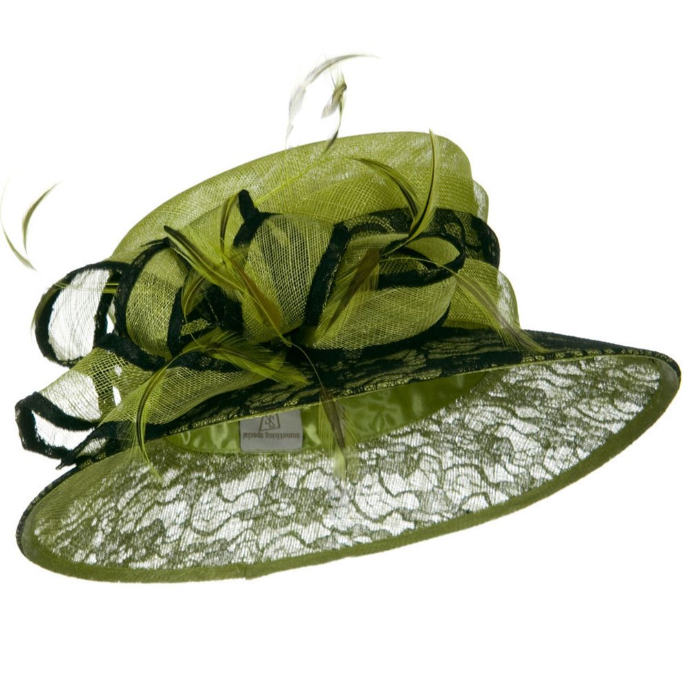 Lace Cooler Sinamay Hat - Lime - Hats and Caps Online Shop - Hip Head Gear