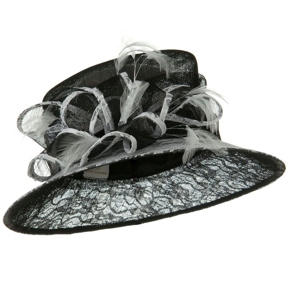 Lace Cooler Sinamay Hat - Black - Hats and Caps Online Shop - Hip Head Gear