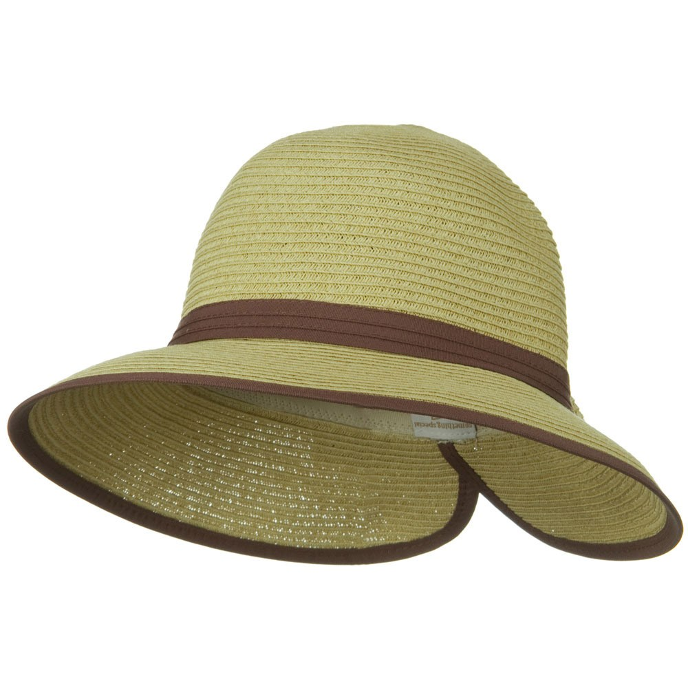 Bow Tie Paper Straw Hat - Natural - Hats and Caps Online Shop - Hip Head Gear