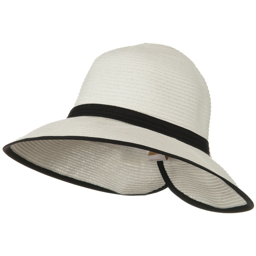 Bow Tie Paper Straw Hat - White - Hats and Caps Online Shop - Hip Head Gear