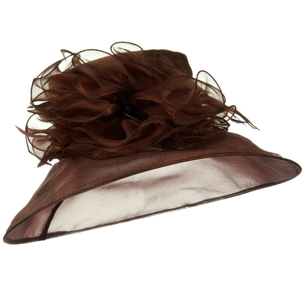 Polyester Organza Hat - Brown - Hats and Caps Online Shop - Hip Head Gear