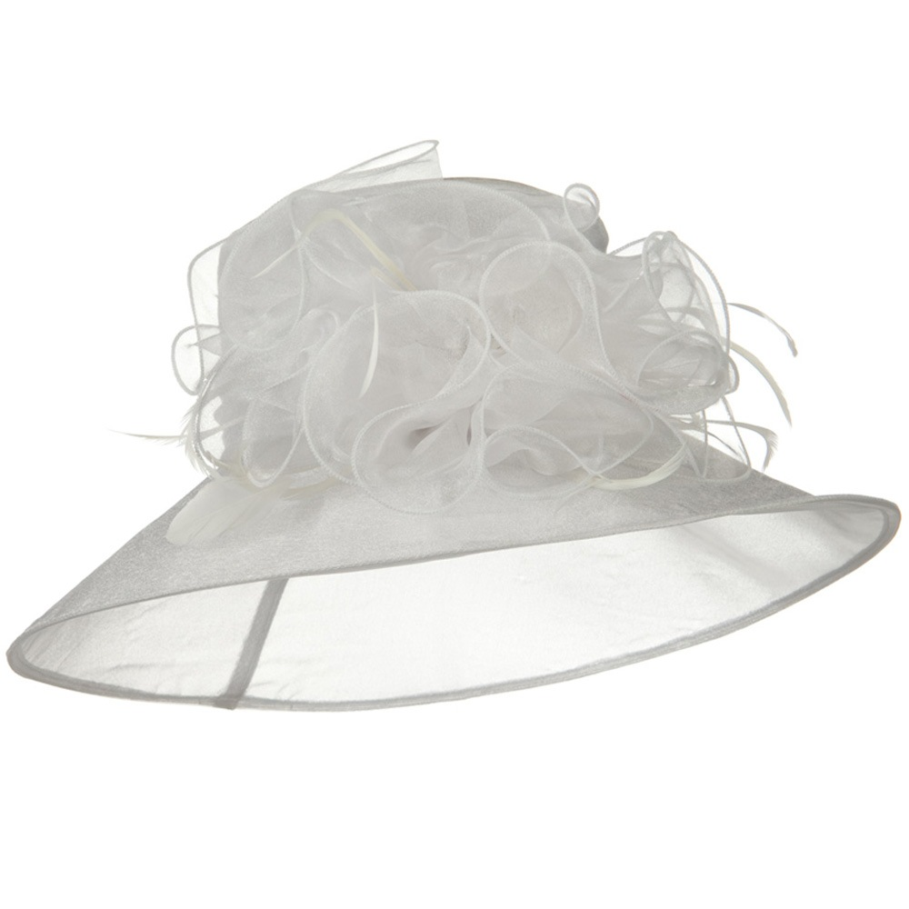 Polyester Organza Hat - White - Hats and Caps Online Shop - Hip Head Gear