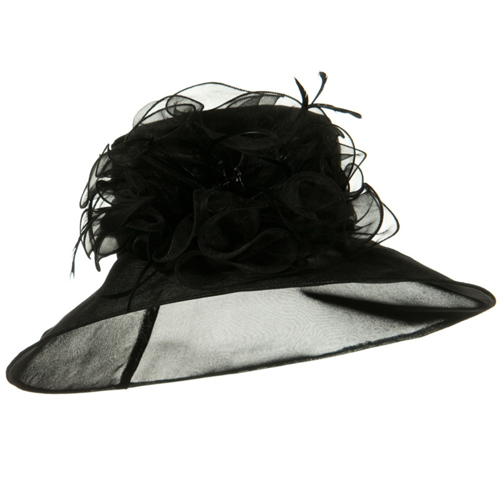 Polyester Organza Hat - Black - Hats and Caps Online Shop - Hip Head Gear