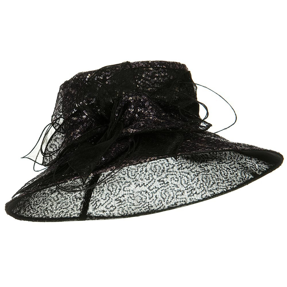 Sequin Organza Hat - Black - Hats and Caps Online Shop - Hip Head Gear