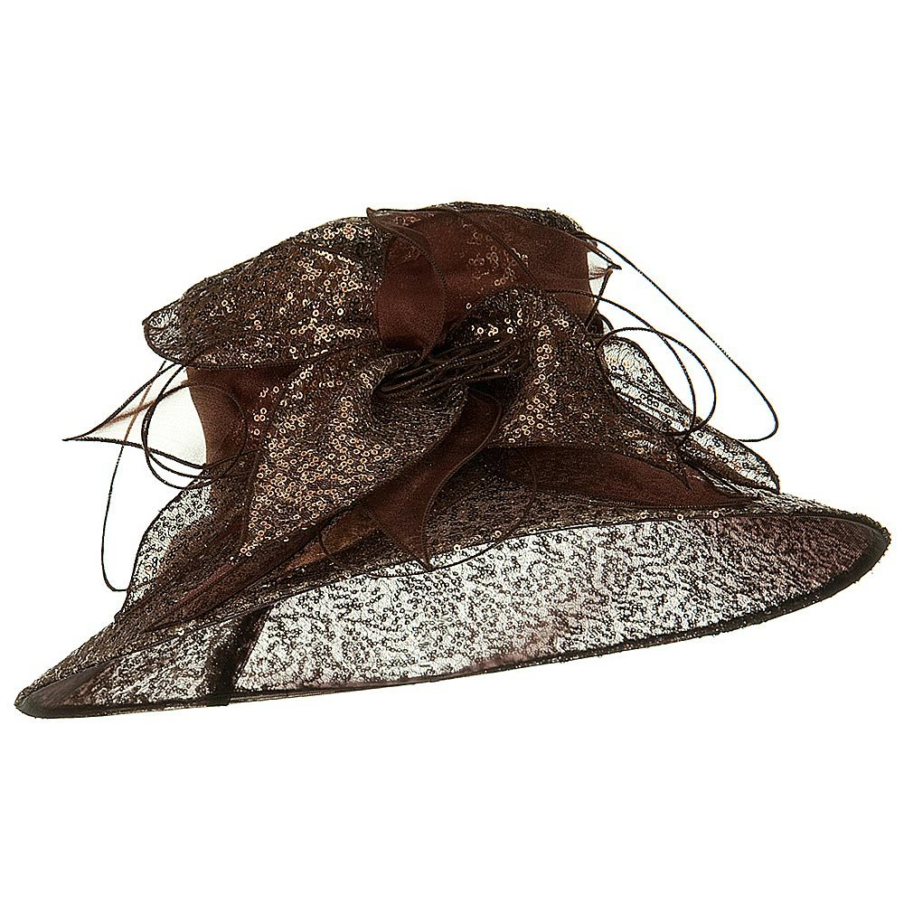 Sequin Organza Hat - Brown - Hats and Caps Online Shop - Hip Head Gear