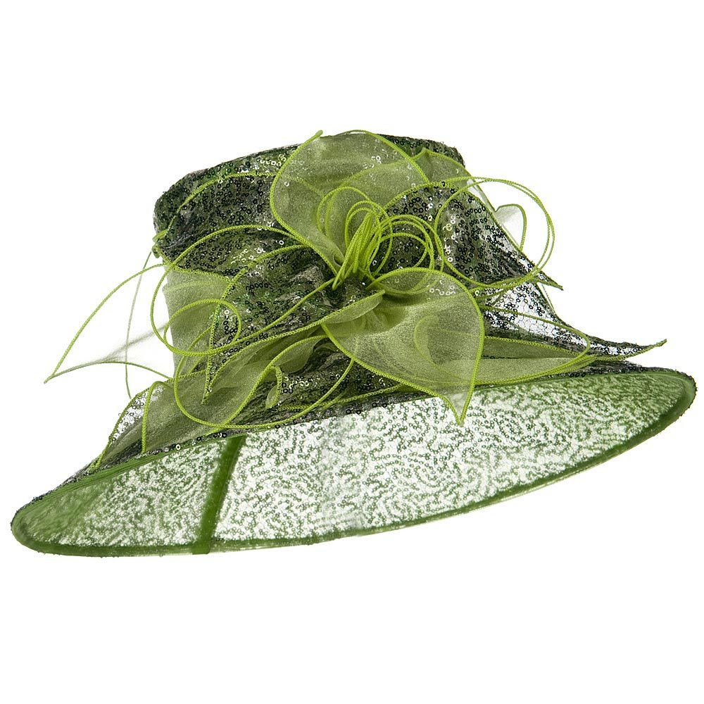 Sequin Organza Hat - Green - Hats and Caps Online Shop - Hip Head Gear