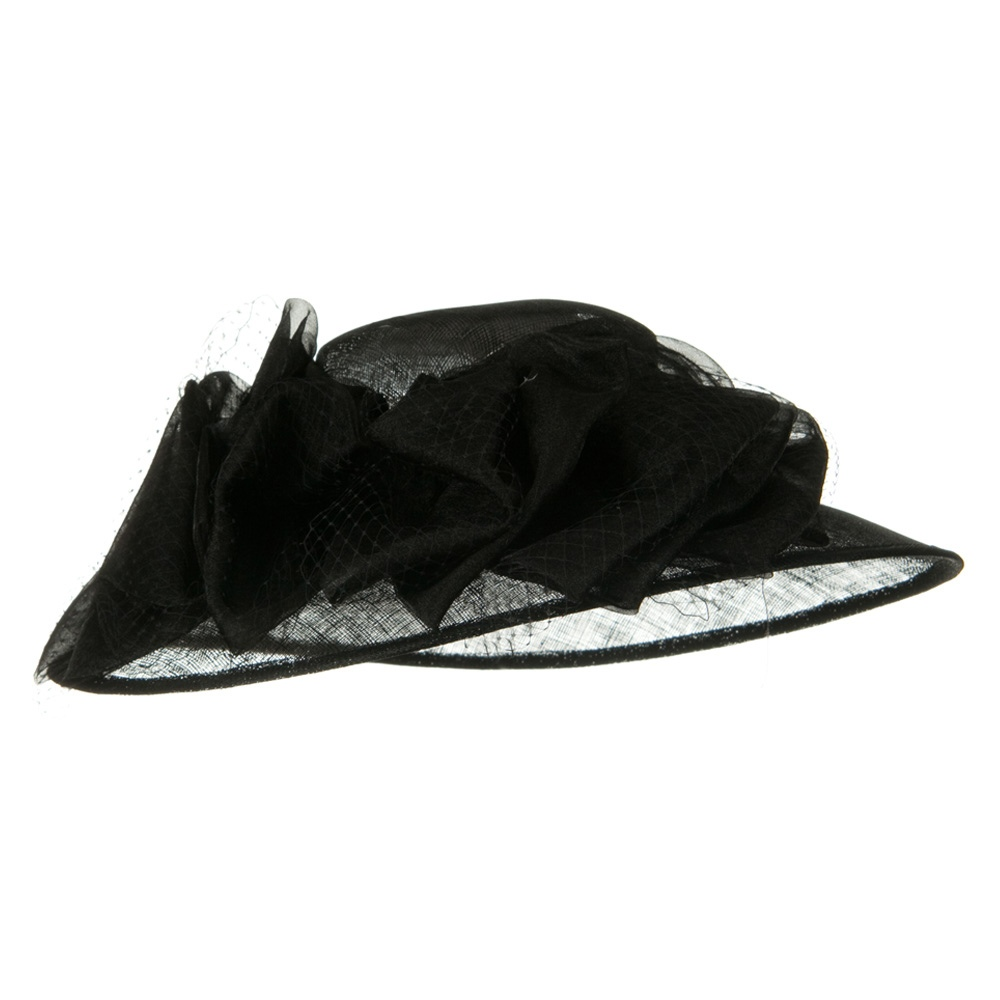 12 Bowes Sinamay Hat - Black - Hats and Caps Online Shop - Hip Head Gear