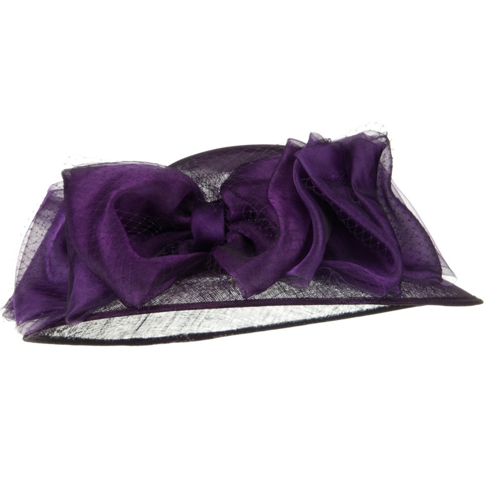 12 Bowes Sinamay Hat - Purple - Hats and Caps Online Shop - Hip Head Gear