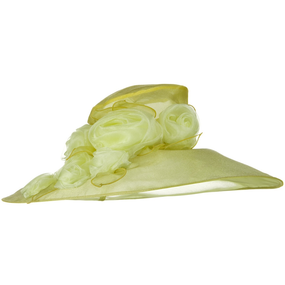 6 Roses Organza Hat - Yellow - Hats and Caps Online Shop - Hip Head Gear