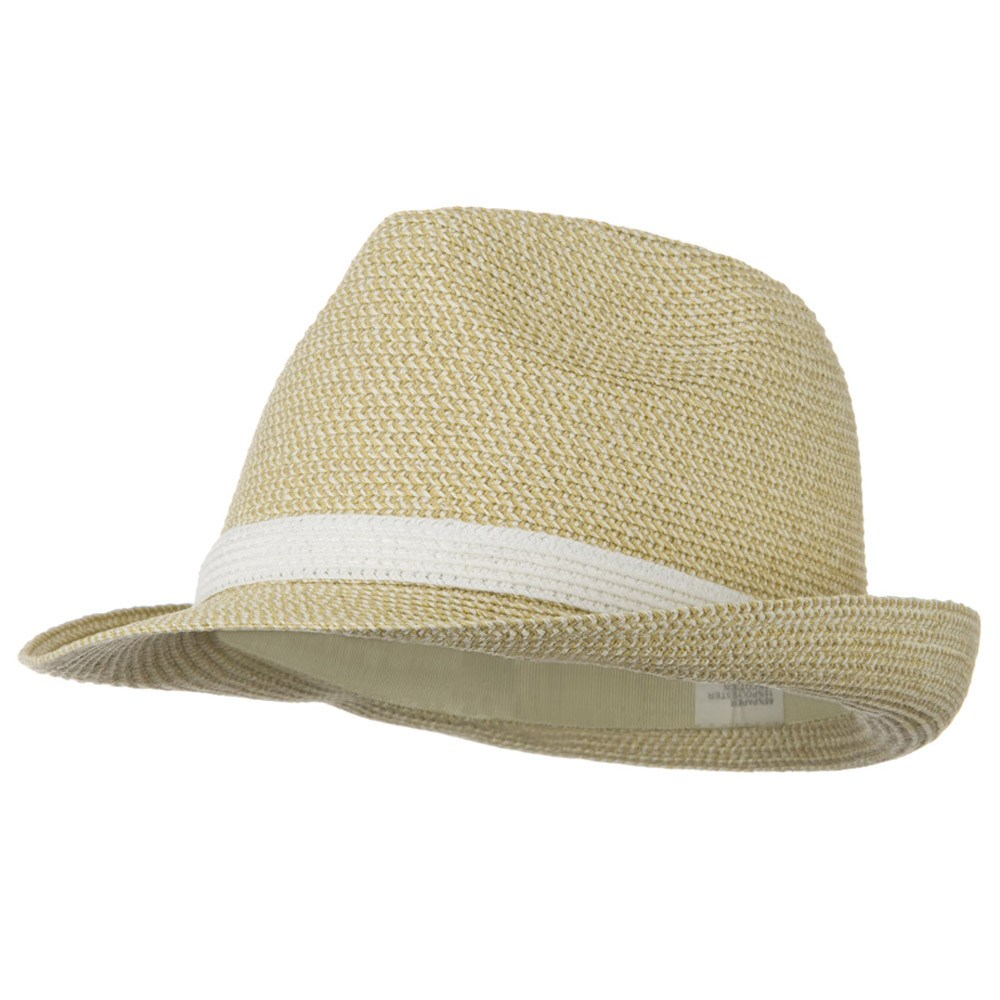 UPF 50+ Blended Braid Self Tie Fedora - White Tweed - Hats and Caps Online Shop - Hip Head Gear