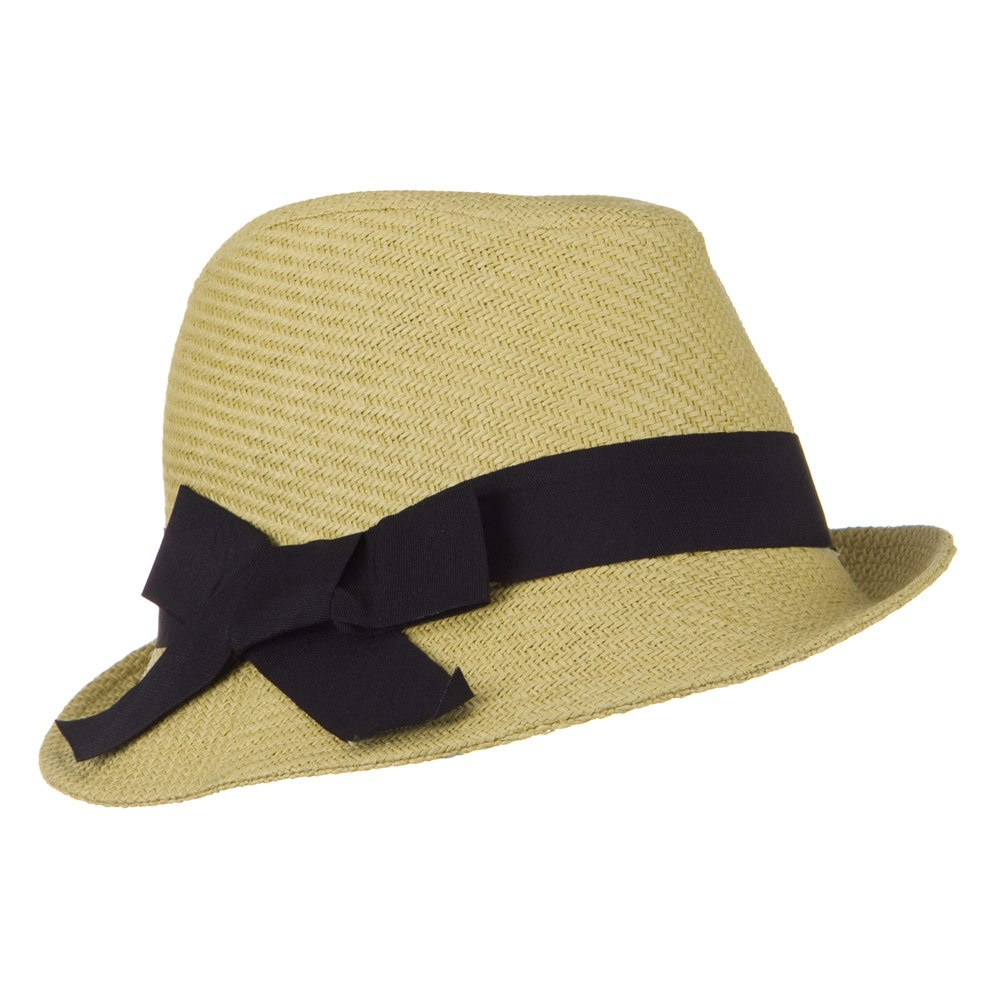Fine Woven Woman Slanted Fedora - Natural - Hats and Caps Online Shop - Hip Head Gear