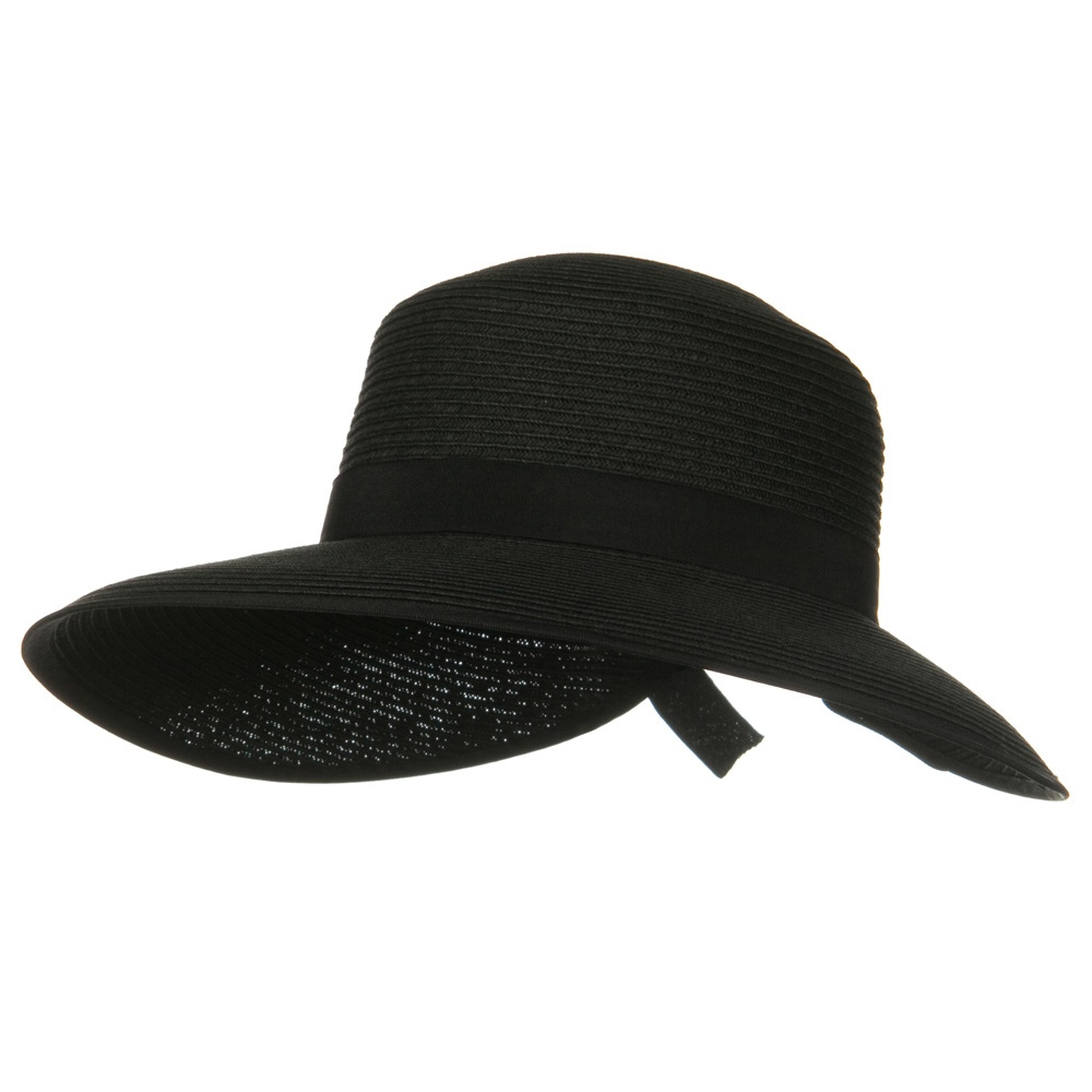 Woman's Toyo Braid Ribbon Hat - Black - Hats and Caps Online Shop - Hip Head Gear