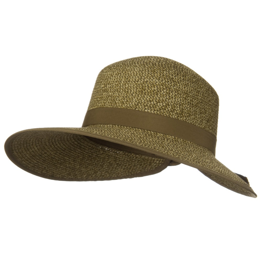 Woman's Toyo Braid Ribbon Hat - Brown Natural - Hats and Caps Online Shop - Hip Head Gear