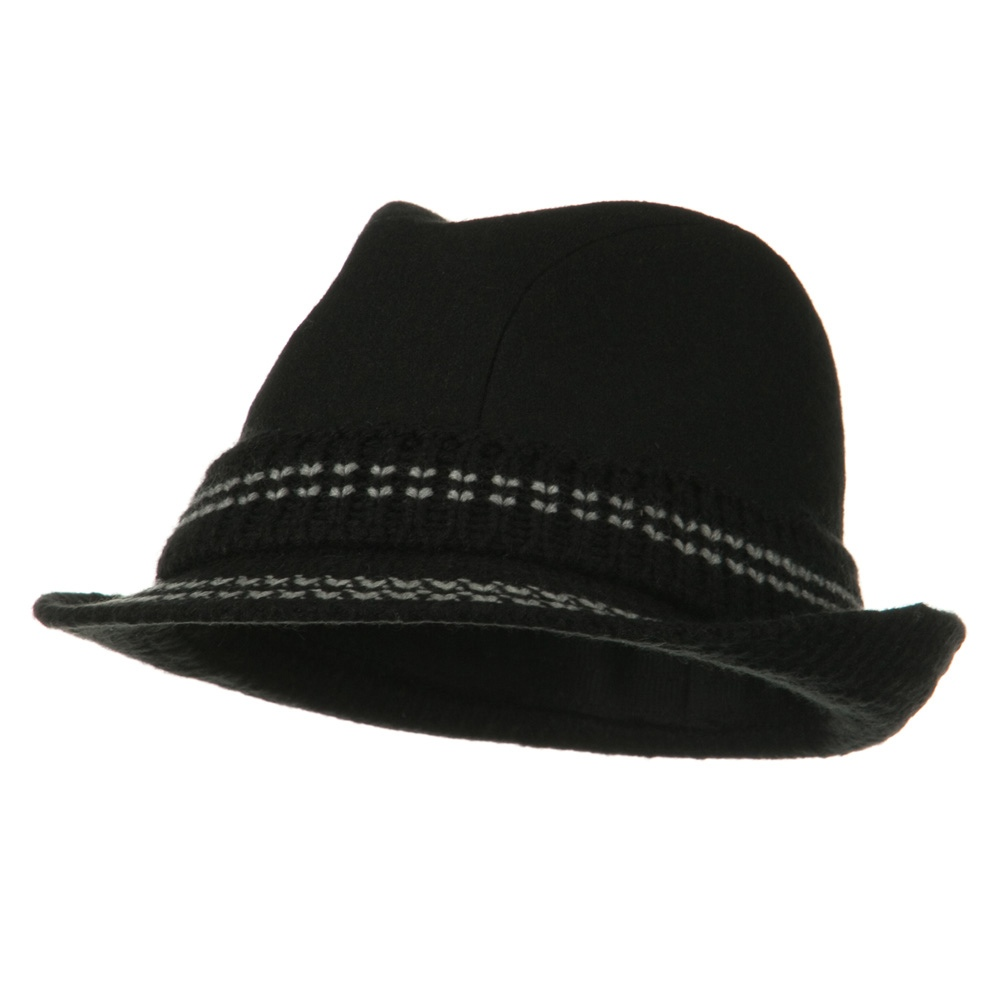 Charlene Wool Blend Fedora - Black - Hats and Caps Online Shop - Hip Head Gear