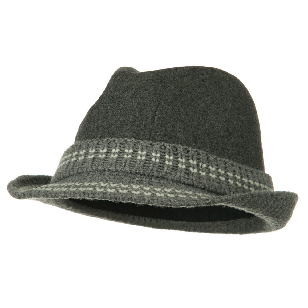 Charlene Wool Blend Fedora - Grey - Hats and Caps Online Shop - Hip Head Gear
