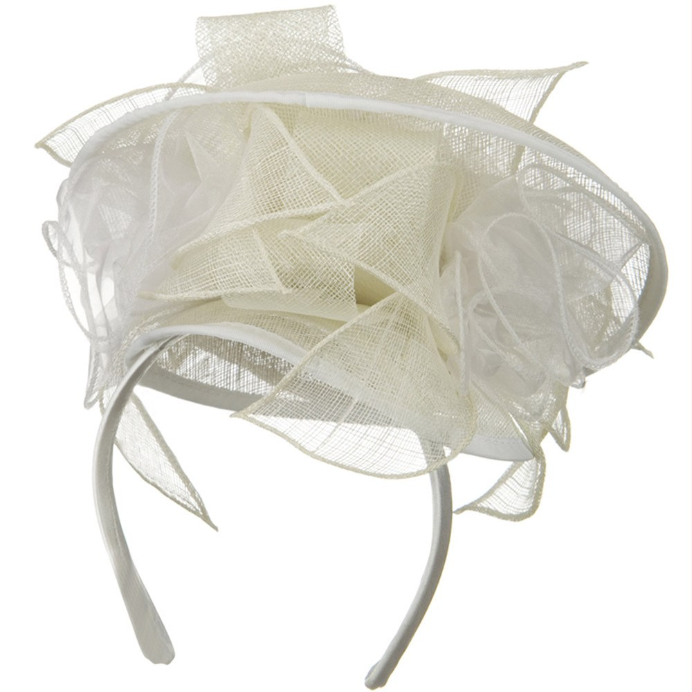 Rose Top Fascinator Hat - White - Hats and Caps Online Shop - Hip Head Gear