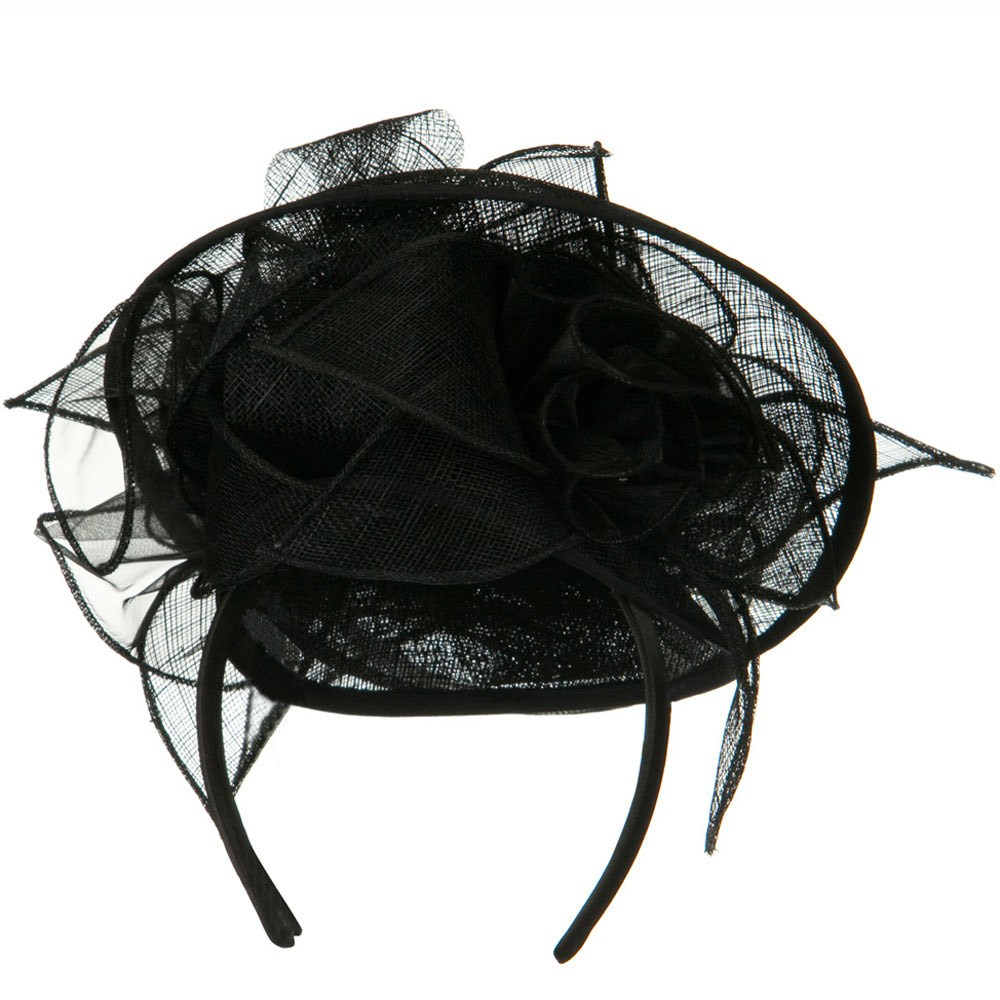 Rose Top Fascinator Hat - Black - Hats and Caps Online Shop - Hip Head Gear