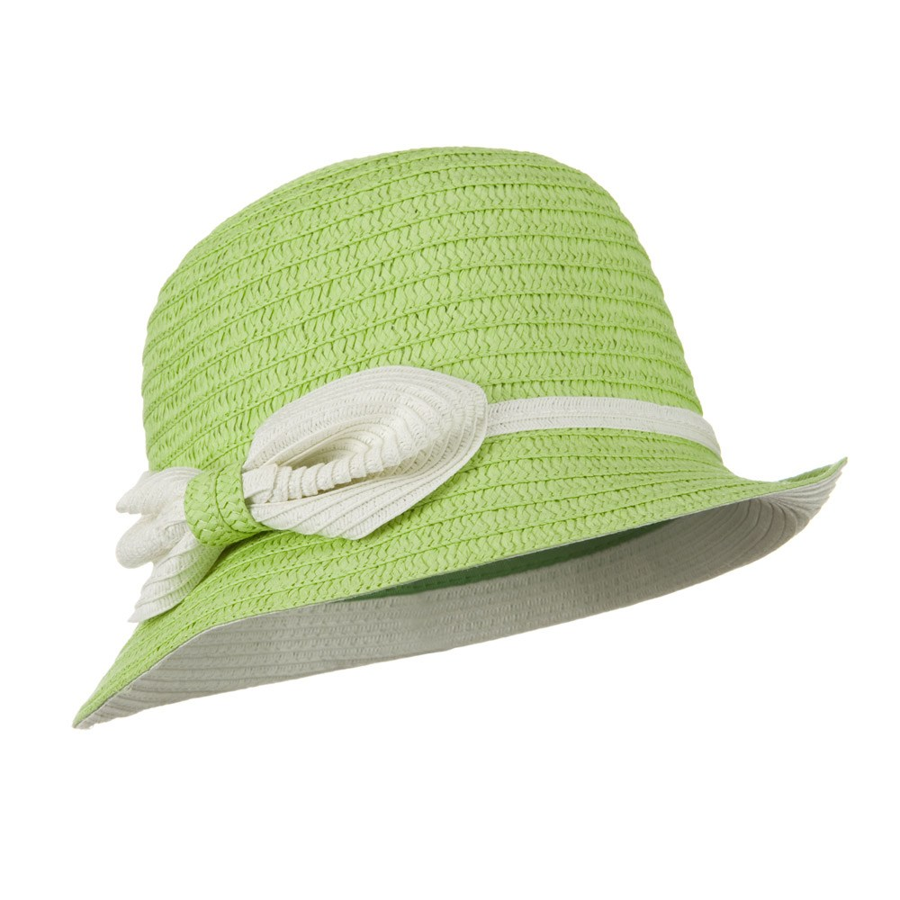 Paper Straw Cloche Hat - Lime - Hats and Caps Online Shop - Hip Head Gear