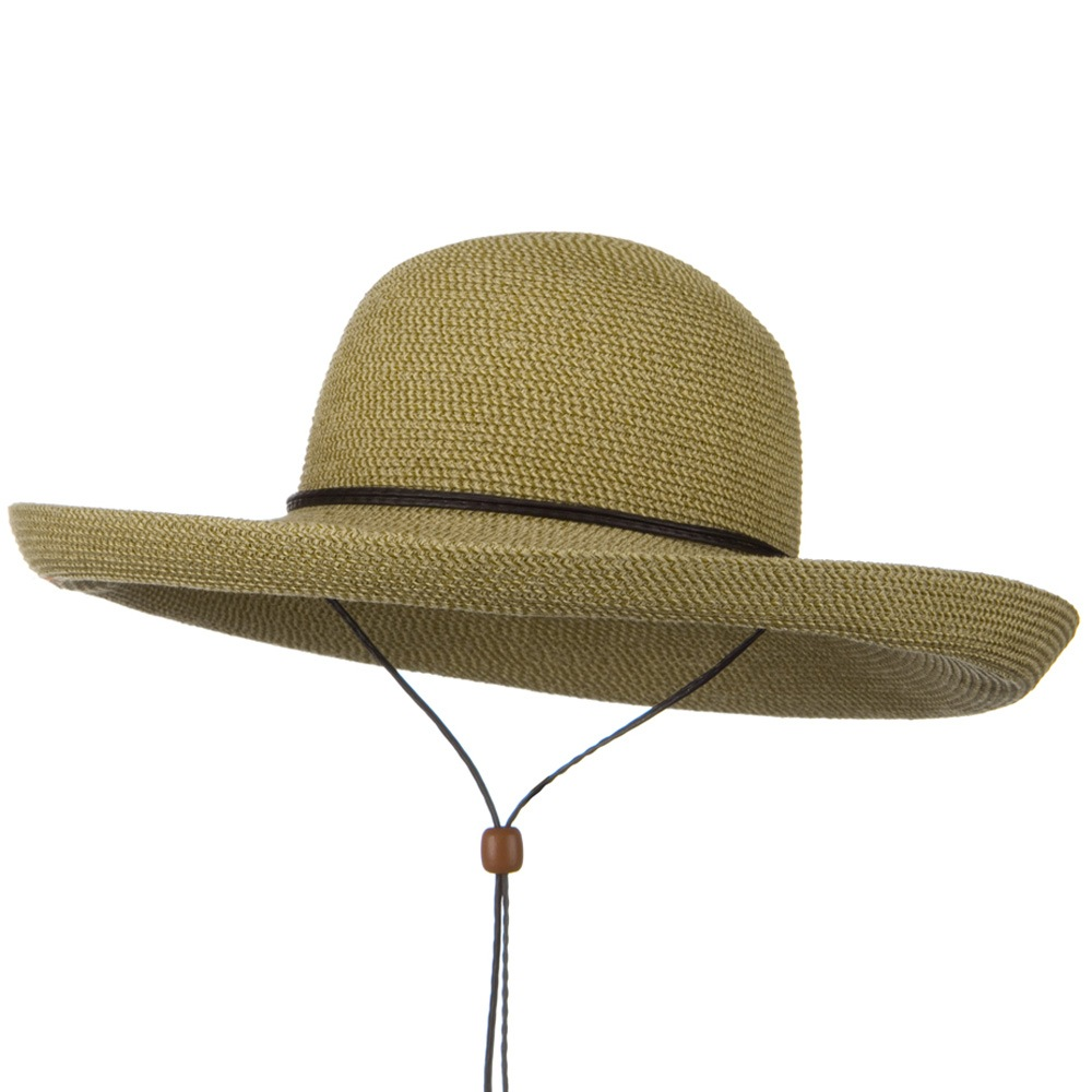 UPF 50+ Cotton Paper Braid Kettle Brim Hat - Tan Tweed - Hats and Caps Online Shop - Hip Head Gear