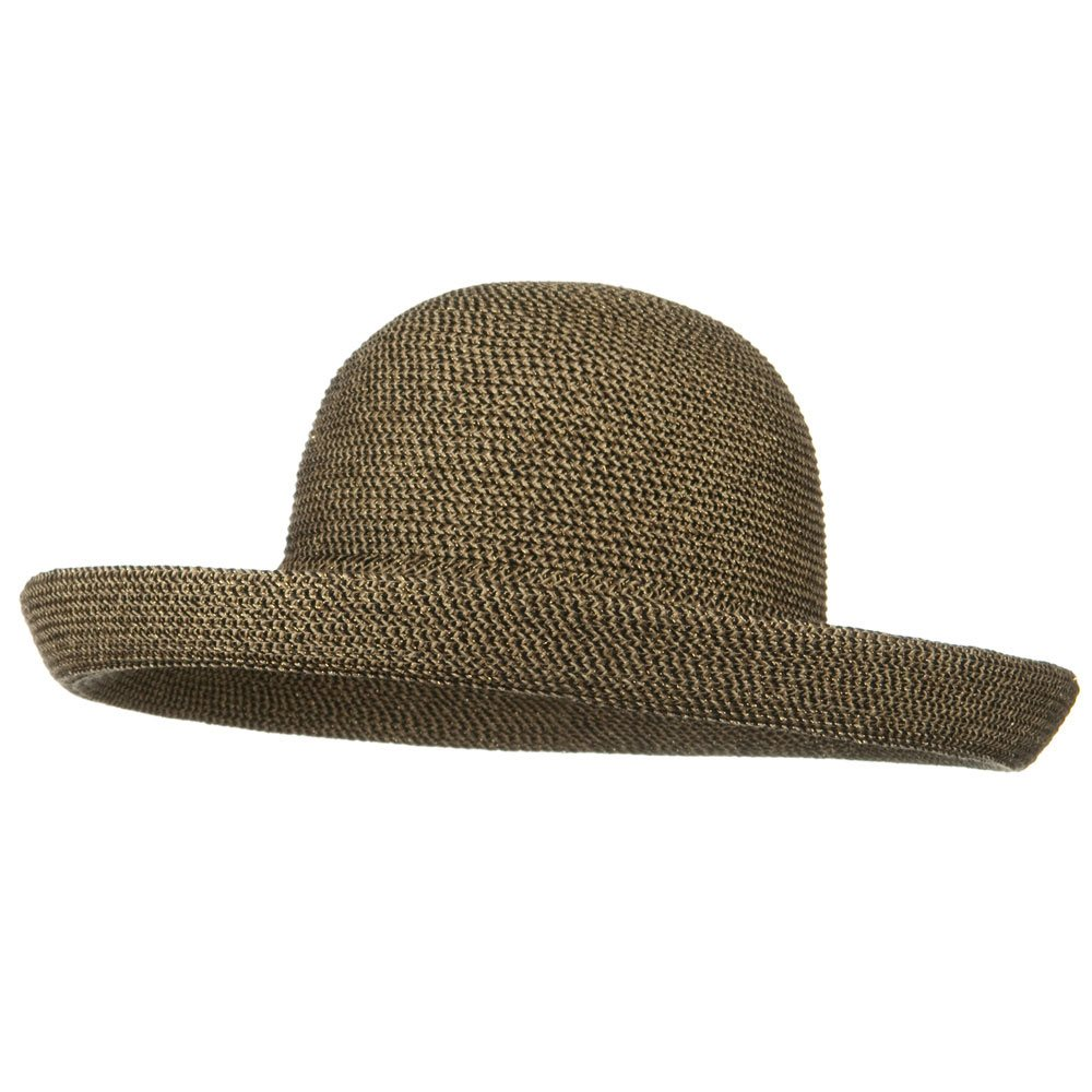UPF 50+ Tweed Metallic Kettle Brim Hat - Black Tweed - Hats and Caps Online Shop - Hip Head Gear