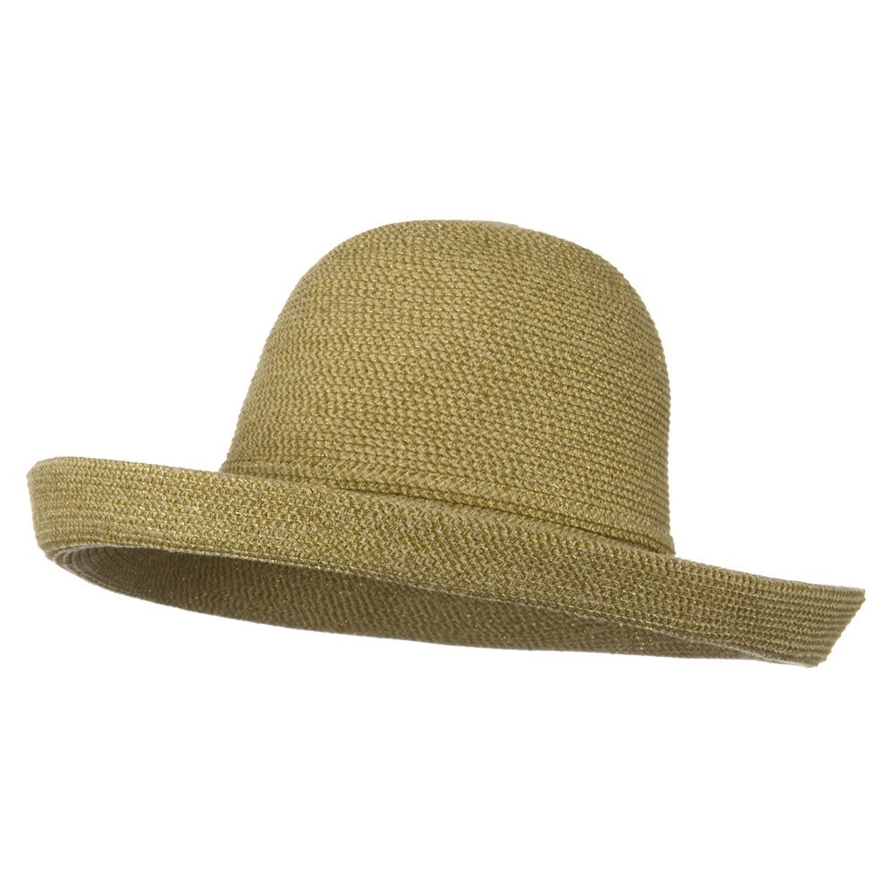 UPF 50+ Tweed Metallic Kettle Brim Hat - Tan Tweed - Hats and Caps Online Shop - Hip Head Gear