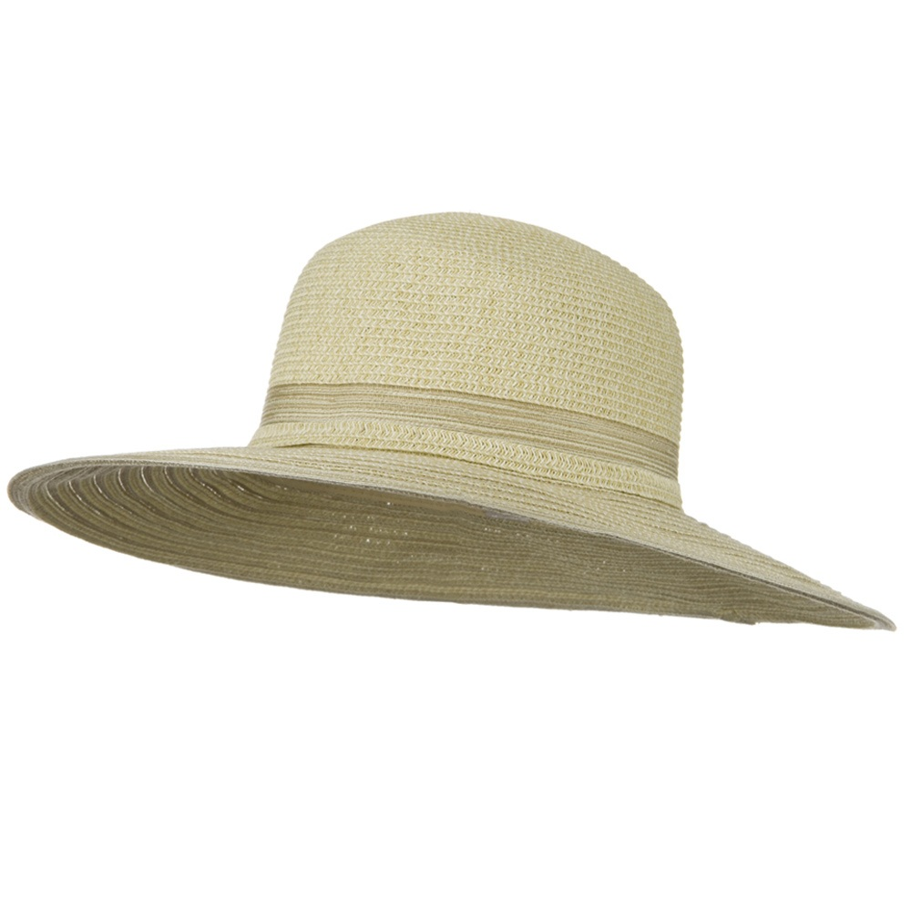 UPF 50+ Tweed Mix Wide Brim Self Tie Hat - Beige - Hats and Caps Online Shop - Hip Head Gear