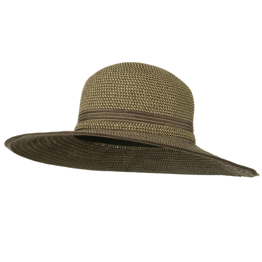UPF 50+ Tweed Mix Wide Brim Self Tie Hat - Brown - Hats and Caps Online Shop - Hip Head Gear