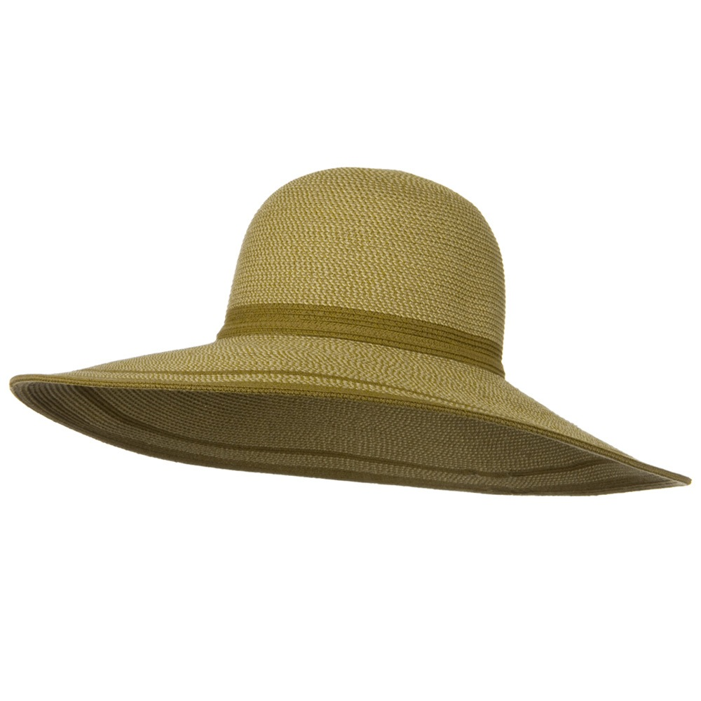 UPF 50+ Tweed Stripe Wide Brim Tie Band Hat- Wheat - Hats and Caps Online Shop - Hip Head Gear
