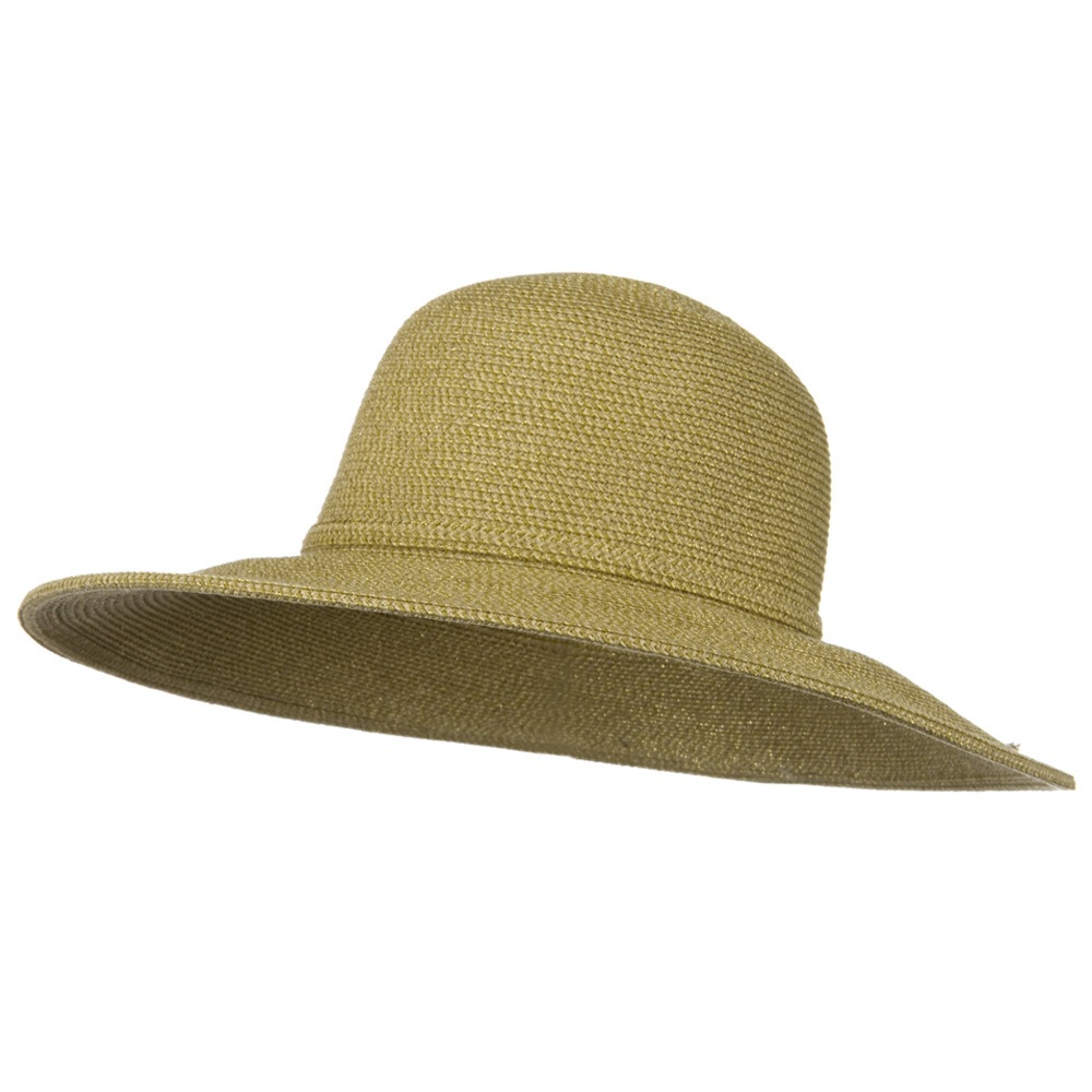UPF 50+ Tweed Sparkling Metallic 4 Inch Wide Brim Hat - Tan - Hats and Caps Online Shop - Hip Head Gear