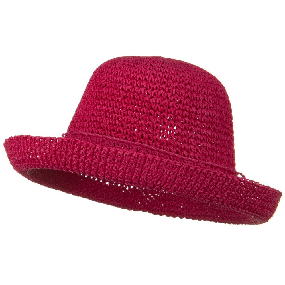 Toyo Roller Self Tie Hat - Fuchsia - Hats and Caps Online Shop - Hip Head Gear