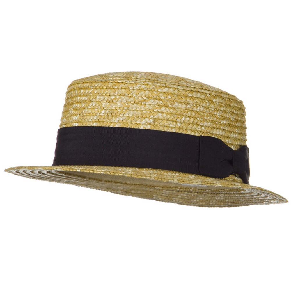 Boater Natural Straw Weave Hat - Natural - Hats and Caps Online Shop - Hip Head Gear