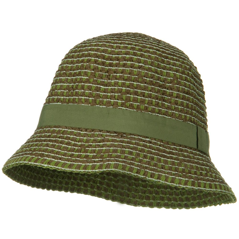 UPF 50+ Cloche Cotton Sewn Braid Short Brim Hat - Green - Hats and Caps Online Shop - Hip Head Gear