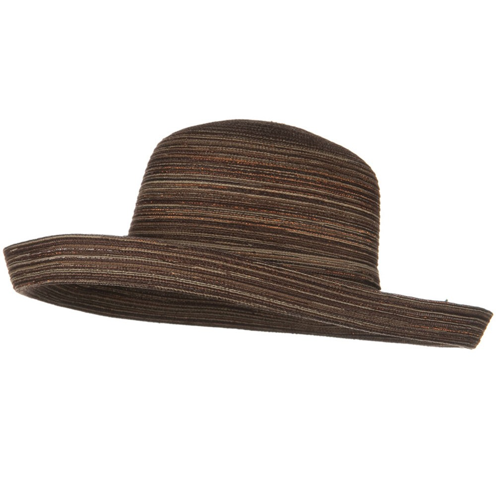 Metallic Blend Kettle Edge Brim Hat - Brown - Hats and Caps Online Shop - Hip Head Gear