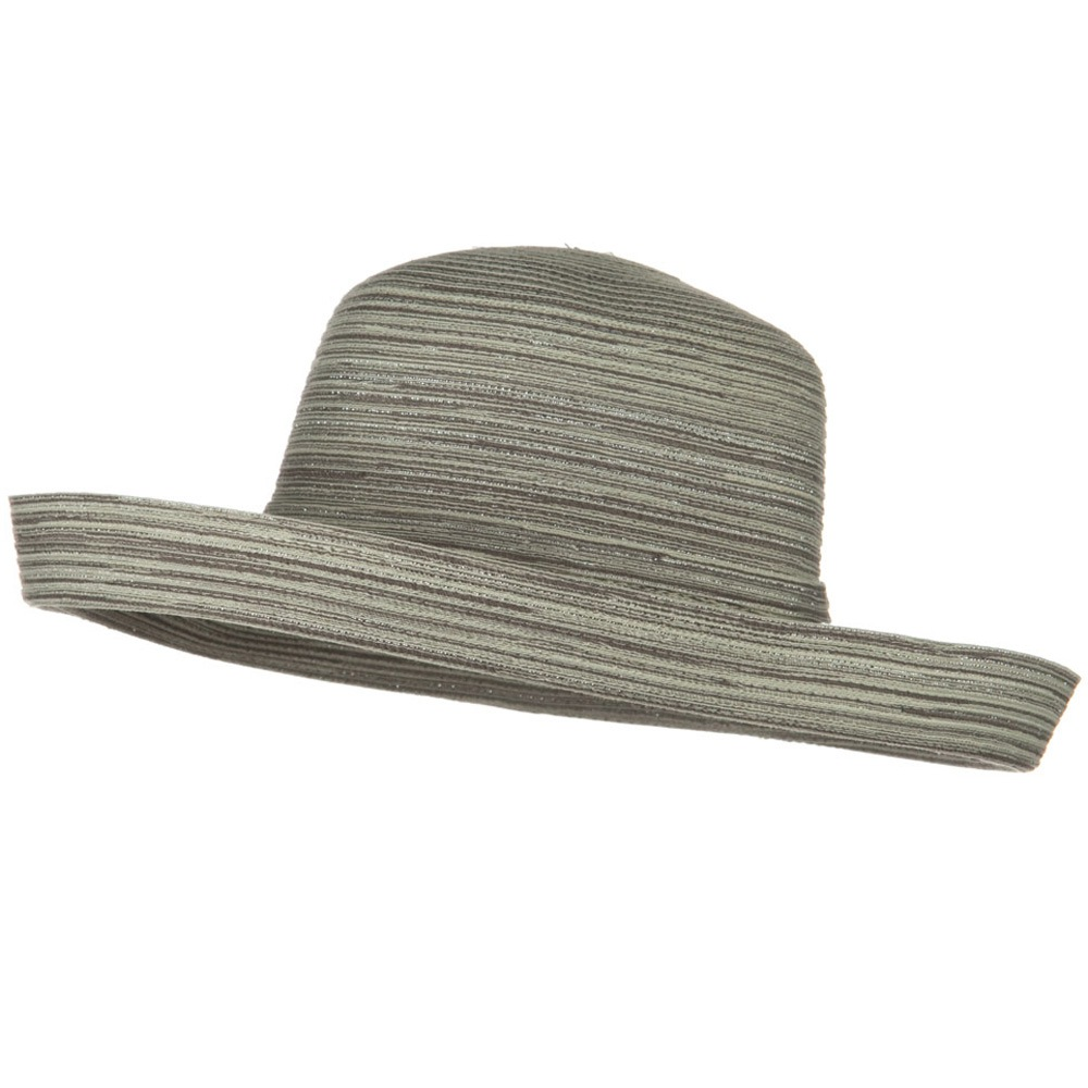 Metallic Blend Kettle Edge Brim Hat - Silver - Hats and Caps Online Shop - Hip Head Gear
