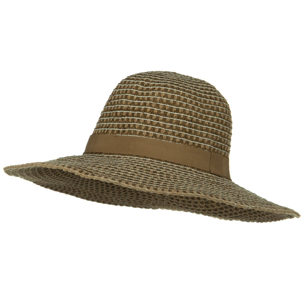 UPF 50+ Packable Crushable Cotton Flat Brim Hat - Brown - Hats and Caps Online Shop - Hip Head Gear