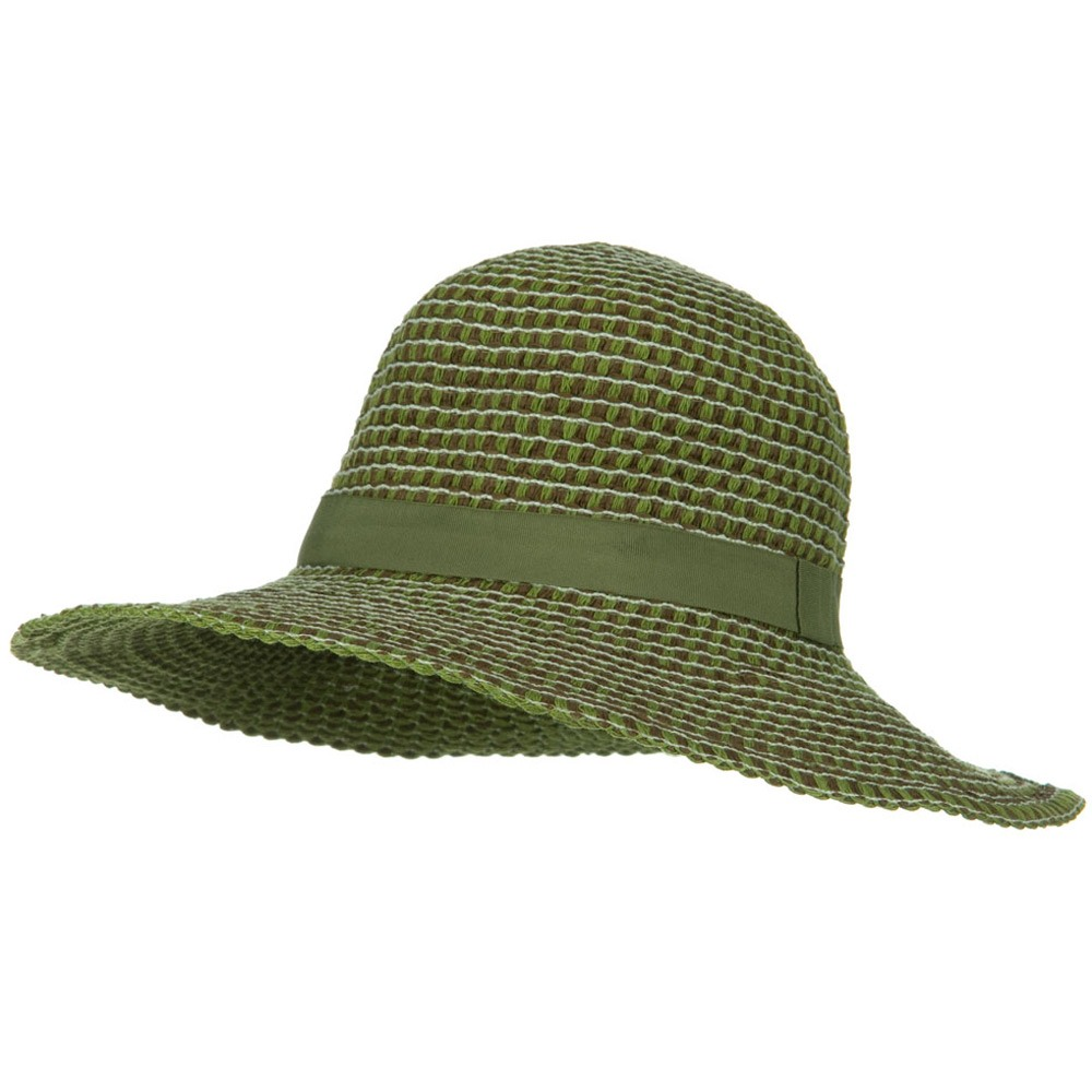 UPF 50+ Packable Crushable Cotton Flat Brim Hat - Green - Hats and Caps Online Shop - Hip Head Gear