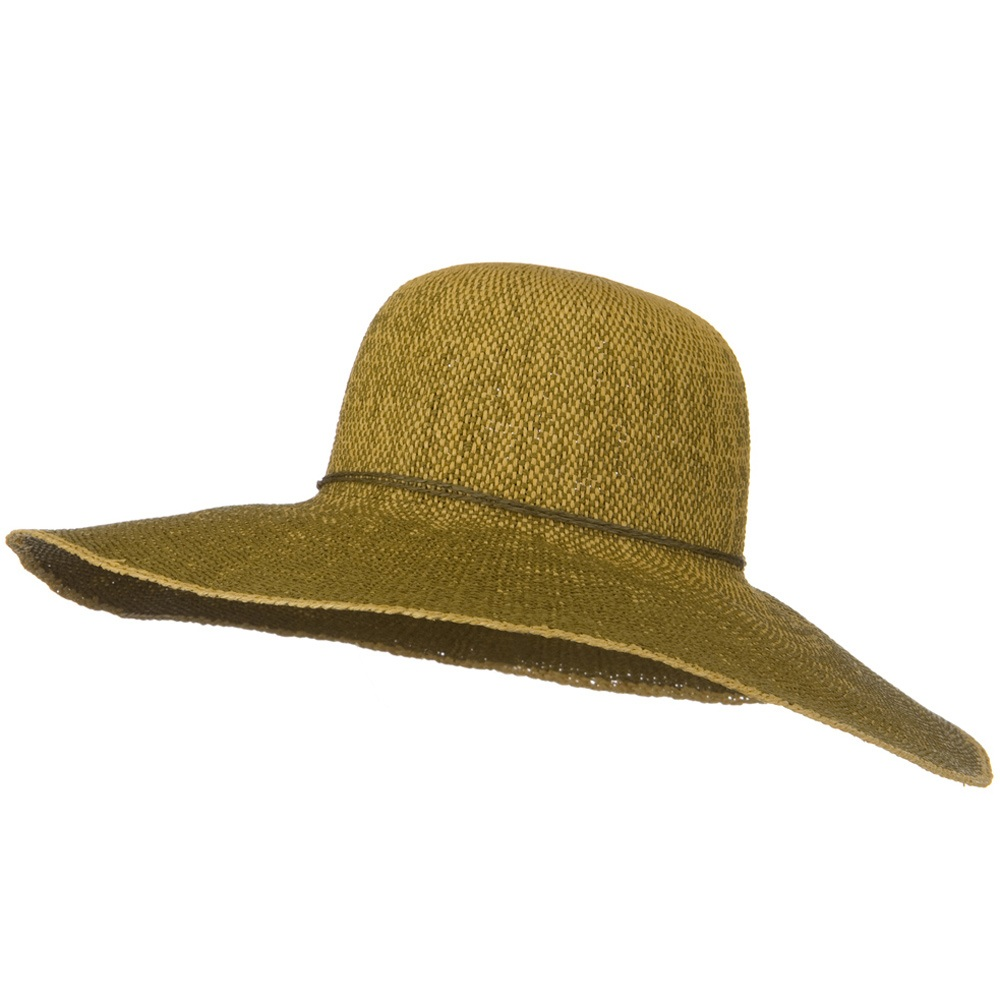 Crushable 5 Inch Flat Brim Toyo Self Tie Hat - Brown - Hats and Caps Online Shop - Hip Head Gear