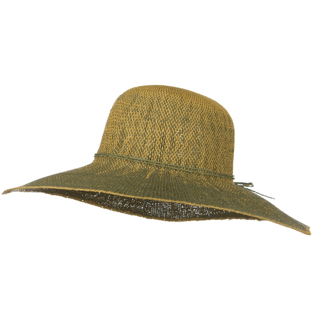 Crushable 5 Inch Flat Brim Toyo Self Tie Hat - Green - Hats and Caps Online Shop - Hip Head Gear