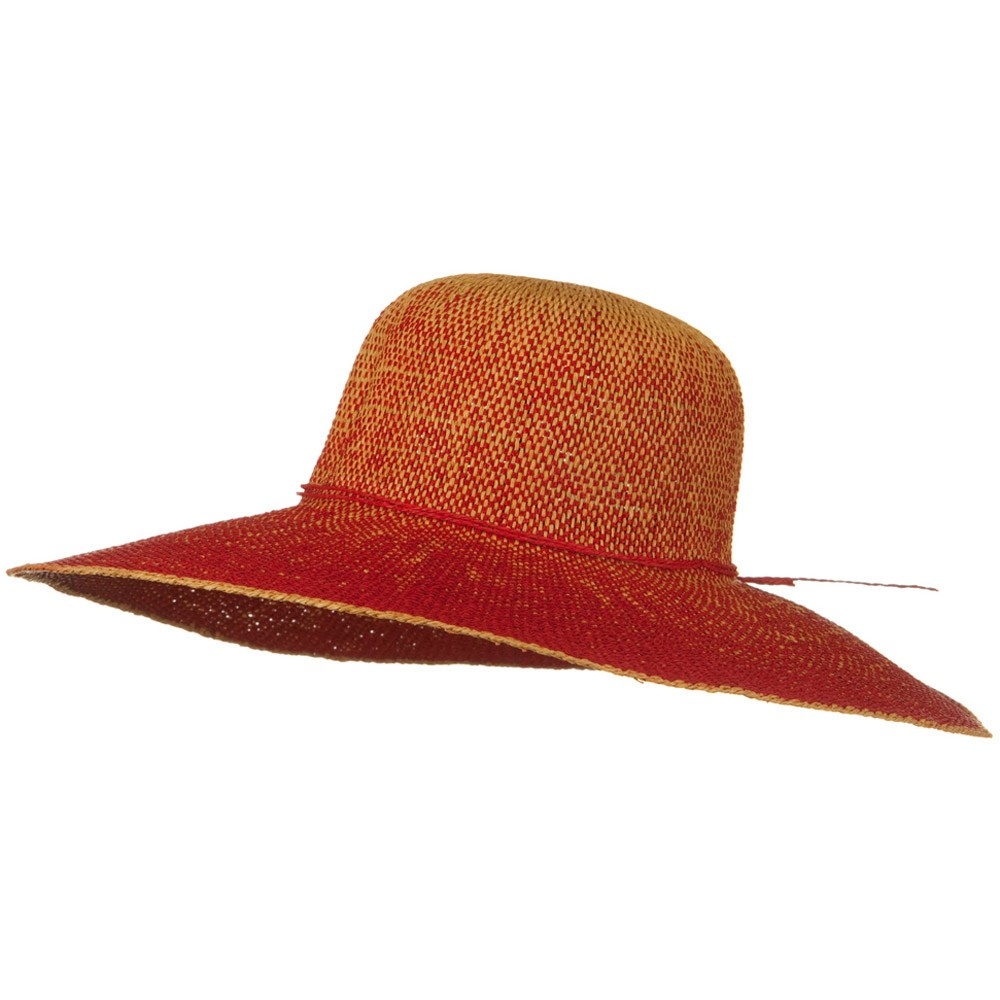 Crushable 5 Inch Flat Brim Toyo Self Tie Hat - Red - Hats and Caps Online Shop - Hip Head Gear