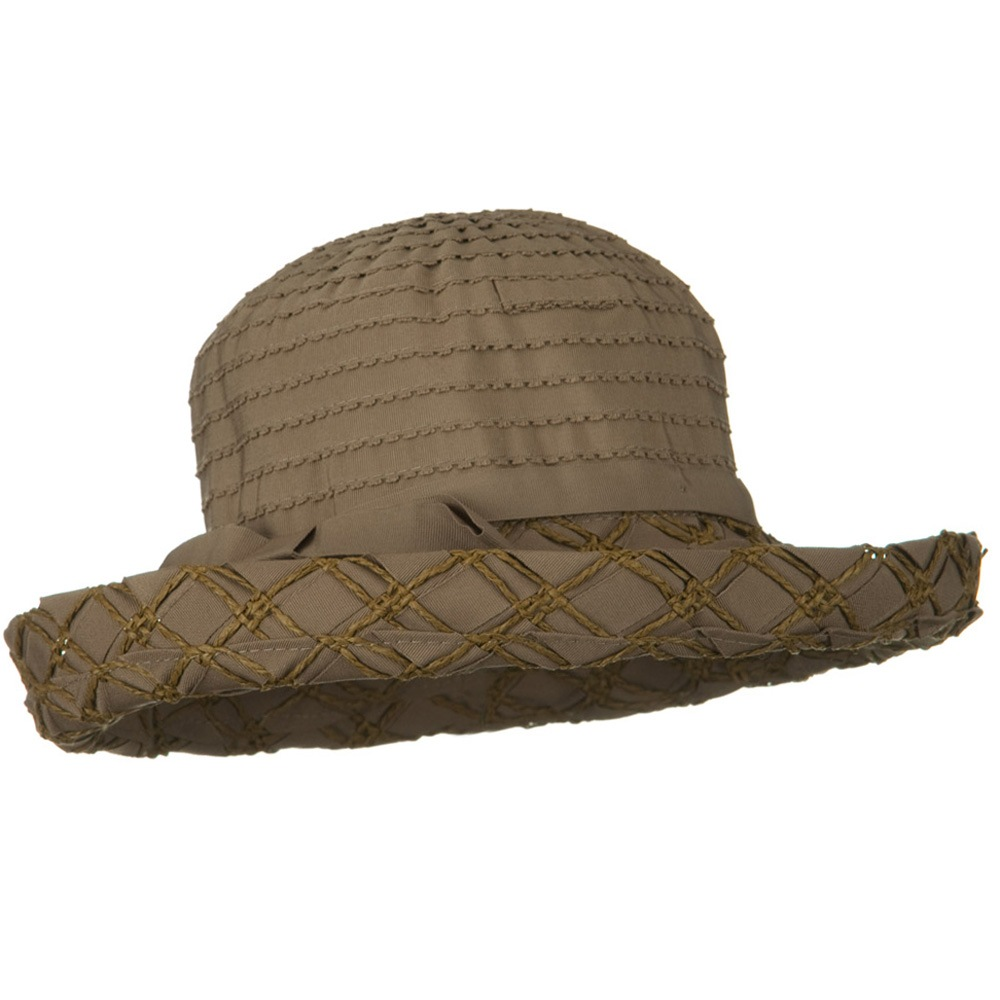 Ribbon Toyo Kettle Brim Hat - Brown - Hats and Caps Online Shop - Hip Head Gear