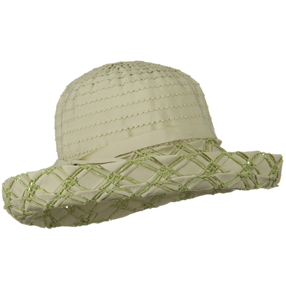 Ribbon Toyo Kettle Brim Hat - Sage - Hats and Caps Online Shop - Hip Head Gear