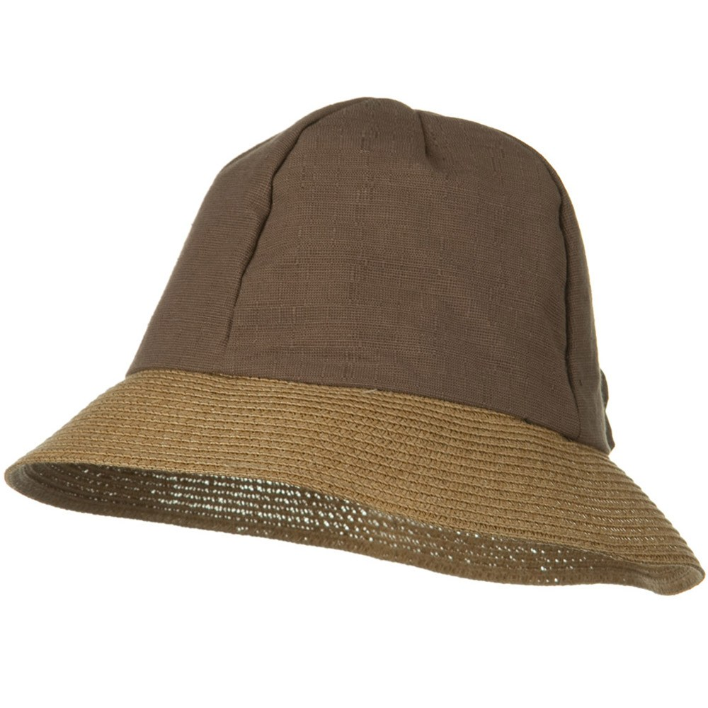 8 Panel Woman's Bucket Straw Hat - Brown - Hats and Caps Online Shop - Hip Head Gear