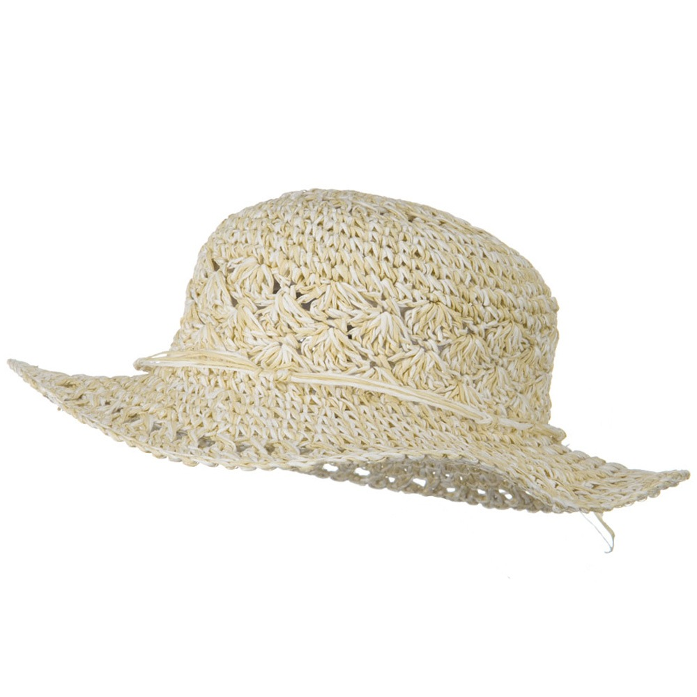 Girls Scallop Design Self Tie Hat - Tan - Hats and Caps Online Shop - Hip Head Gear